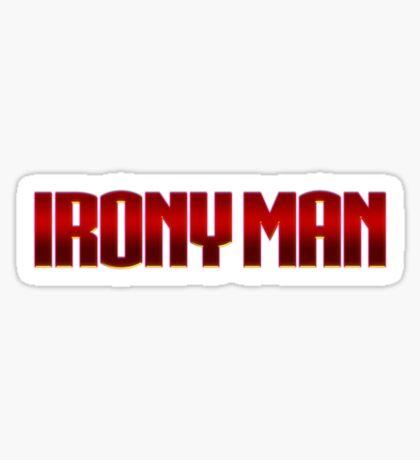 Irony Man Sticker