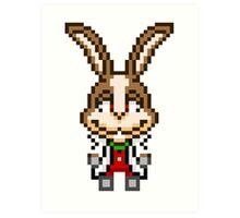 Peppy Hare - Star Fox Team Mini Pixel Art Print