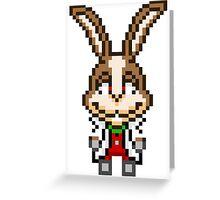 Peppy Hare - Star Fox Team Mini Pixel Greeting Card
