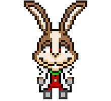 Peppy Hare - Star Fox Team Mini Pixel Photographic Print