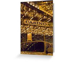 Casino Limo Greeting Card
