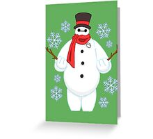 Snowman Baymax Greeting Card