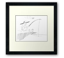PENCIL ART - How To Please Ourselves Framed Print