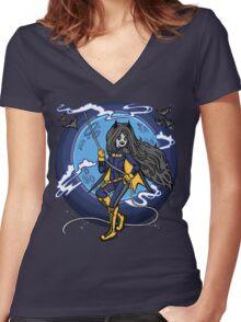 Marceline BatGirl Women's Fitted V-Neck T-Shirt