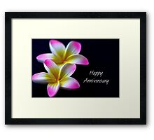 Happy Anniversary Framed Print