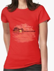 Musical Sunset Womens Fitted T-Shirt