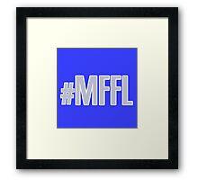 MAVS FAN FOR LIFE Framed Print