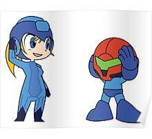 Chibi Zero Suit Samus and Megaman Poster