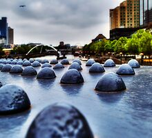 Yarra River Footbridge by Nicole Goggins