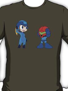Chibi Zero Suit Samus and Megaman T-Shirt