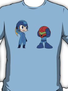 Chibi Zero Suit Samus and Megaman T-Shirt
