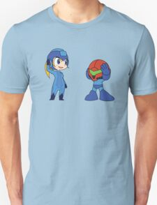 Chibi Zero Suit Samus and Megaman Unisex T-Shirt