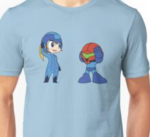 Chibi Zero Suit Samus and Megaman Unisex T-Shirt