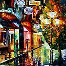 Amsterdam, Night Rain — Buy Now Link - www.etsy.com/listing/213560287 by Leonid  Afremov
