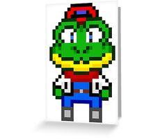 Slippy Toad - Star Fox Team Mini Pixel Greeting Card