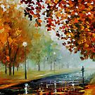 Foggy Autumn — Buy Now Link - www.etsy.com/listing/214099432 by Leonid  Afremov