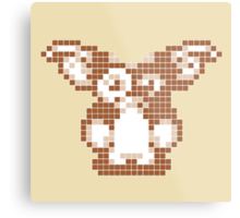 """Gremlins """"Don't Feed After Midnight."""" Gizmo Movie 8-bit Metal Print"""