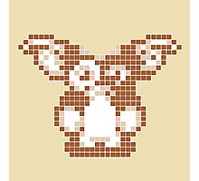 """Gremlins """"Don't Feed After Midnight."""" Gizmo Movie 8-bit Photographic Print"""