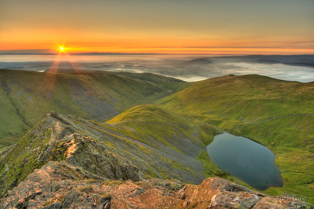 Scales Tarn from the Edge by Rich Gale