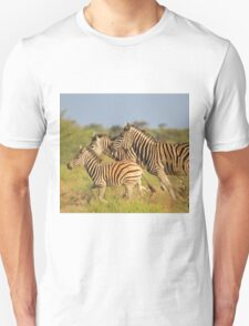 Zebra Run - African Wildlife - Following the Leader T-Shirt