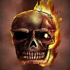 Flaming Skull Design by OliverDemers