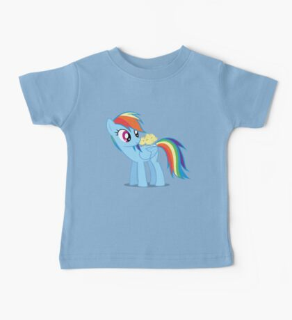 "Rainbow Dash - ""Chicks"" Textless ver. Baby Tee"