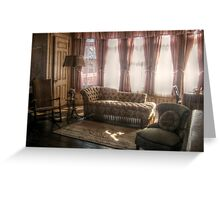 Sitting Area in Edison's Master Bedroom, Glenmont Greeting Card