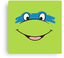 TMNT Teenage Mutant Ninja Turtles Leonardo Michelangelo Donatello Raphael Mikey Green Canvas Print