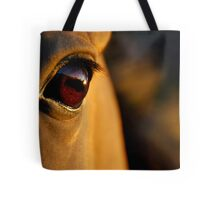 the golden light of the setting sun Tote Bag