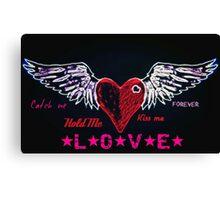 Open heart love Canvas Print