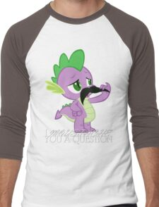 Spike's Moustache Question (UK Version) Men's Baseball ¾ T-Shirt