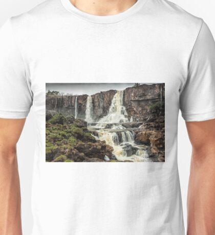 Iguaza Falls - below the falls - monochrome Unisex T-Shirt