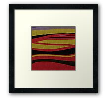ABSTRACT art gifts and decor Red, gold, black Framed Print