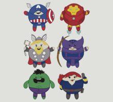 Chubbies Avengers! by cutesiesbychris