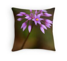 Purple Tassels Throw Pillow