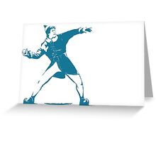 The Snowball Thrower Greeting Card