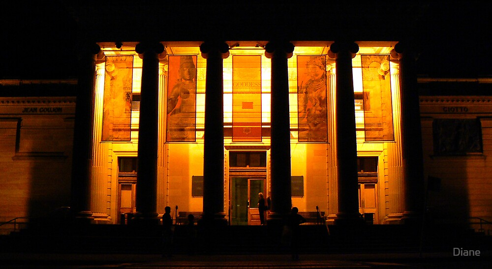 Gallery at Night by Diane