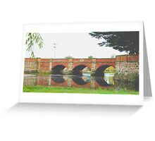 Red Bridge- Tasmania , Australia Greeting Card