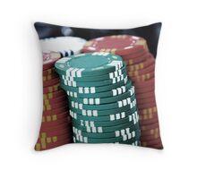 Poker Chip Throw Pillow