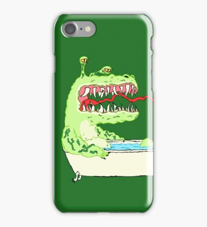 A Dragon in a Bathtub iPhone Case/Skin