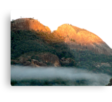 Early morning fog in the Warrumbungle National Park NSW Metal Print