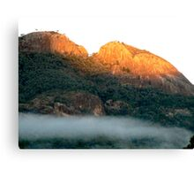 Early morning fog in the Warrumbungle National Park NSW Canvas Print