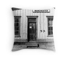 Railroad Depot Manchester Tennessee Throw Pillow