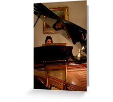The Piano and its Player Greeting Card
