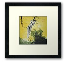 plying with the wave Framed Print