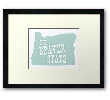Oregon State Motto Slogan Framed Print
