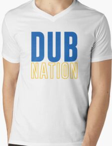 DUB NATION  Mens V-Neck T-Shirt