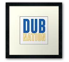 DUB NATION  Framed Print