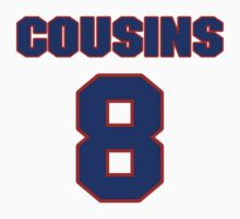 National football player Kirk Cousins jersey 8 by imsport