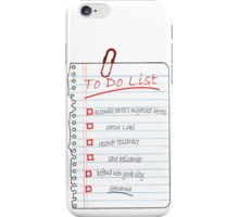 Avengers To Do List iPhone Case/Skin
